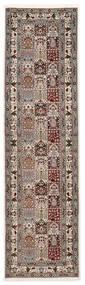Moud Sherkat Farsh Matto 80X300 Itämainen Käsinsolmittu Käytävämatto Vaaleanharmaa/Beige (Villa/Silkki, Persia/Iran)