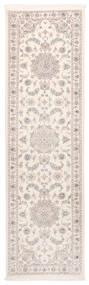 Nain 9La Matto 83X300 Itämainen Käsinsolmittu Käytävämatto Beige/Valkoinen/Creme (Villa/Silkki, Persia/Iran)