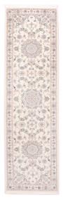 Nain 9La Matto 85X300 Itämainen Käsinsolmittu Käytävämatto Beige/Valkoinen/Creme (Villa/Silkki, Persia/Iran)