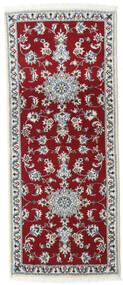 Nain Matto 80X200 Itämainen Käsinsolmittu Käytävämatto Tummanpunainen/Punainen (Villa, Persia/Iran)