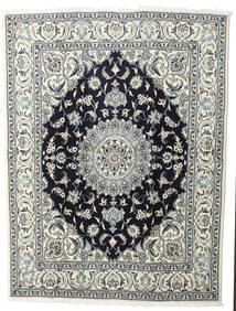 Nain Matto 200X245 Itämainen Käsinsolmittu Vaaleanharmaa/Musta (Villa, Persia/Iran)