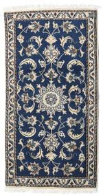 Nain Matto 68X132 Itämainen Käsinsolmittu Tummansininen/Tummanharmaa/Vaaleanharmaa (Villa, Persia/Iran)