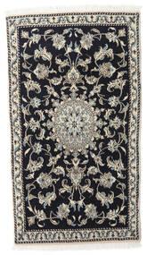 Nain Matto 90X145 Itämainen Käsinsolmittu Musta/Vaaleanharmaa (Villa, Persia/Iran)