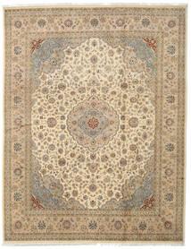 Tabriz Royal Matto 242X312 Itämainen Käsinsolmittu Vaaleanruskea/Beige/Tummanbeige ( Intia)