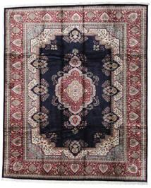 Kashmir Art. Silkki Matto 246X300 Itämainen Käsinsolmittu Musta/Vaaleanharmaa ( Intia)