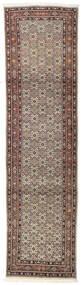 Moud Matto 80X291 Itämainen Käsinsolmittu Käytävämatto Vaaleanharmaa/Tummanpunainen (Villa/Silkki, Persia/Iran)