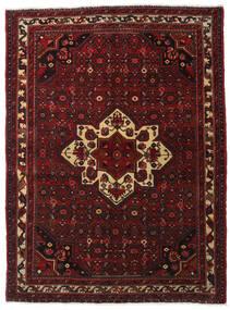 Hosseinabad Matto 164X218 Itämainen Käsinsolmittu Tummanpunainen/Tummanruskea (Villa, Persia/Iran)