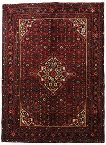 Hosseinabad Matto 163X220 Itämainen Käsinsolmittu Tummanpunainen (Villa, Persia/Iran)