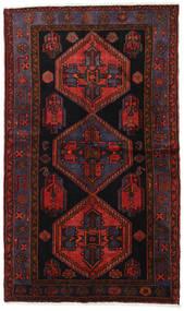 Hamadan Matto 125X213 Itämainen Käsinsolmittu Tummanpunainen (Villa, Persia/Iran)