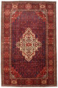 Hosseinabad Matto 215X330 Itämainen Käsinsolmittu Tummanpunainen/Musta (Villa, Persia/Iran)
