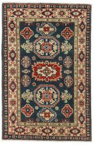 Kazak Matto 83X126 Itämainen Käsinsolmittu Musta/Tummanpunainen (Villa, Afganistan)