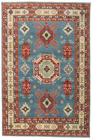 Kazak Matto 199X302 Itämainen Käsinsolmittu Tummanpunainen/Sininen (Villa, Afganistan)