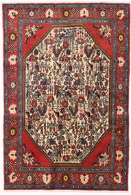 Koliai Matto 128X190 Itämainen Käsinsolmittu Tummanpunainen/Tummanruskea (Villa, Persia/Iran)