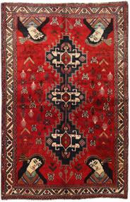 Ghashghai Matto 158X247 Itämainen Käsinsolmittu Tummanpunainen/Ruoste (Villa, Persia/Iran)