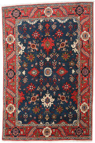 Heriz Matto 197X300 Itämainen Käsinsolmittu Tummansininen/Tummanharmaa (Villa, Persia/Iran)