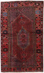 Hamadan Matto 132X218 Itämainen Käsinsolmittu Tummanpunainen/Musta (Villa, Persia/Iran)