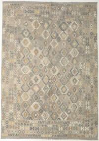 Kelim Afghan Old Style Matto 240X341 Itämainen Käsinkudottu Vaaleanharmaa/Oliivinvihreä (Villa, Afganistan)