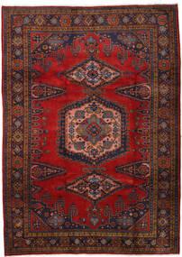 Wiss Matto 212X310 Itämainen Käsinsolmittu Tummanpunainen/Tummanruskea/Ruoste (Villa, Persia/Iran)