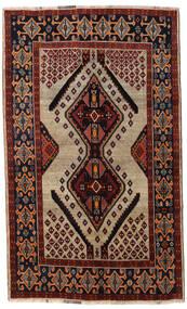 Ghashghai Matto 151X246 Itämainen Käsinsolmittu Tummanruskea/Tummanpunainen/Vaaleanruskea (Villa, Persia/Iran)