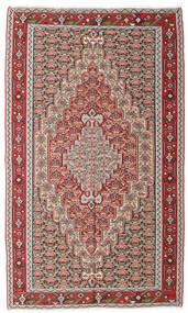 Kelim Senneh Matto 150X251 Itämainen Käsinkudottu Vaaleanharmaa/Ruskea (Villa, Persia/Iran)