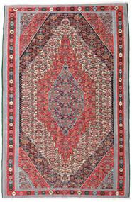 Kelim Senneh Matto 169X257 Itämainen Käsinkudottu Vaaleanharmaa/Ruskea (Villa, Persia/Iran)