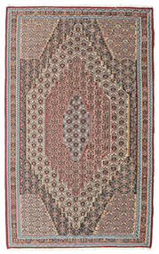 Kelim Senneh Matto 148X237 Itämainen Käsinkudottu Vaaleanharmaa/Vaaleanruskea (Villa, Persia/Iran)