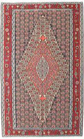 Kelim Senneh Matto 150X248 Itämainen Käsinkudottu Vaaleanharmaa/Tummanruskea (Villa, Persia/Iran)