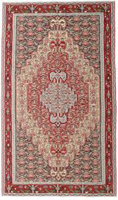 Kelim Senneh Matto 150X259 Itämainen Käsinkudottu Vaaleanharmaa/Beige (Villa, Persia/Iran)