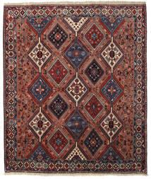 Yalameh Matto 200X237 Itämainen Käsinsolmittu Tummanpunainen/Tummanharmaa (Villa, Persia/Iran)