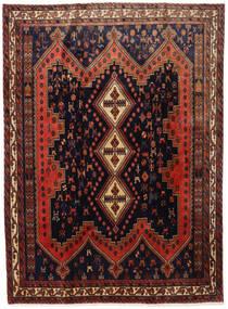 Afshar Matto 183X245 Itämainen Käsinsolmittu Musta/Tummanpunainen (Villa, Persia/Iran)