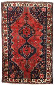 Shiraz Matto 158X250 Itämainen Käsinsolmittu Tummansininen/Tummanpunainen (Villa, Persia/Iran)