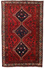 Shiraz Matto 158X251 Itämainen Käsinsolmittu Tummanpunainen/Musta/Ruoste (Villa, Persia/Iran)