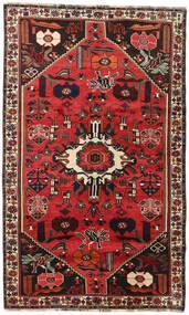 Shiraz Matto 152X252 Itämainen Käsinsolmittu Tummanruskea/Ruoste (Villa, Persia/Iran)