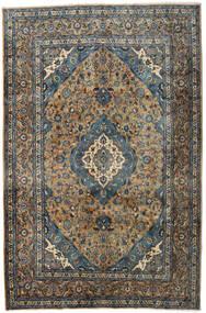 Kashmar Matto 195X297 Itämainen Käsinsolmittu Musta/Vaaleanruskea (Villa, Persia/Iran)