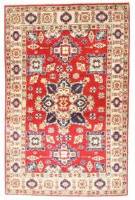 Kazak Matto 94X147 Itämainen Käsinsolmittu Vaaleanpunainen/Ruoste (Villa, Afganistan)