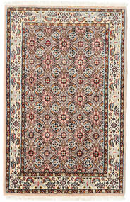 Moud Matto 57X90 Itämainen Käsinsolmittu Tummanruskea/Vaaleanruskea (Villa/Silkki, Persia/Iran)
