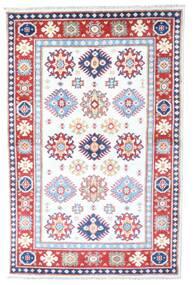 Kazak Matto 98X149 Itämainen Käsinsolmittu Valkoinen/Creme/Vaaleanpunainen (Villa, Afganistan)