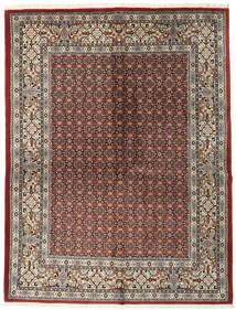 Moud Matto 151X198 Itämainen Käsinsolmittu Vaaleanharmaa/Tummanpunainen (Villa/Silkki, Persia/Iran)