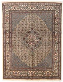 Moud Matto 150X194 Itämainen Käsinsolmittu Vaaleanruskea/Vaaleanharmaa/Tummanharmaa (Villa/Silkki, Persia/Iran)