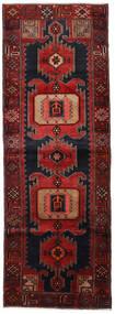 Hamadan Matto 104X295 Itämainen Käsinsolmittu Käytävämatto Tummanpunainen (Villa, Persia/Iran)