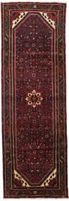 Hamadan Matto 100X300 Itämainen Käsinsolmittu Käytävämatto Musta/Tummanpunainen (Villa, Persia/Iran)