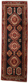 Ardebil Matto 96X288 Itämainen Käsinsolmittu Käytävämatto Tummanruskea/Tummanpunainen (Villa, Persia/Iran)