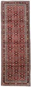 Mahal Matto 107X315 Itämainen Käsinsolmittu Käytävämatto Tummanpunainen/Tummanruskea (Villa, Persia/Iran)