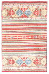 Kazak Matto 98X155 Itämainen Käsinsolmittu Vaaleanpunainen/Beige (Villa, Afganistan)