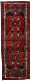 Hamadan Matto 105X282 Itämainen Käsinsolmittu Käytävämatto Tummanpunainen/Tummanruskea (Villa, Persia/Iran)