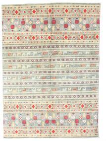 Kazak Matto 142X199 Itämainen Käsinsolmittu Beige/Vaaleanharmaa (Villa, Pakistan)