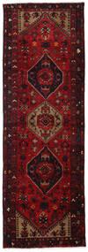 Hamadan Matto 101X300 Itämainen Käsinsolmittu Käytävämatto Tummanpunainen/Tummanruskea (Villa, Persia/Iran)