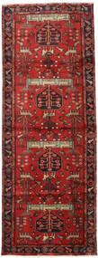 Hamadan Matto 105X284 Itämainen Käsinsolmittu Käytävämatto Tummanpunainen/Ruoste (Villa, Persia/Iran)