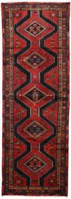 Hamadan Matto 100X290 Itämainen Käsinsolmittu Käytävämatto Tummanpunainen/Musta (Villa, Persia/Iran)