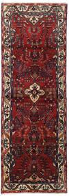 Hamadan Matto 102X292 Itämainen Käsinsolmittu Käytävämatto Tummanpunainen/Tummanharmaa (Villa, Persia/Iran)